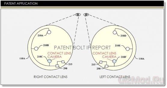 Google патентует камеры в контактных линзах