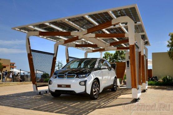 BMW крыша с солнечными батареями для электромобилей