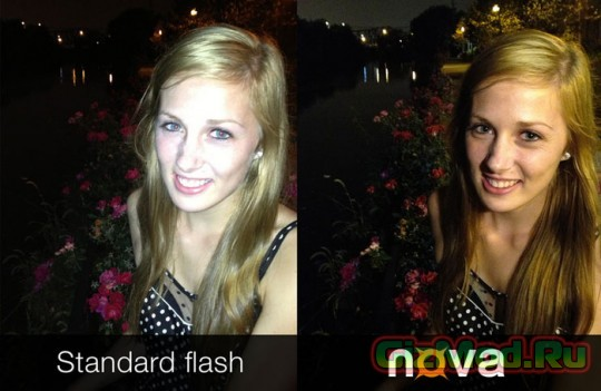 Вспышка Nova в помощь камерам смартфонов