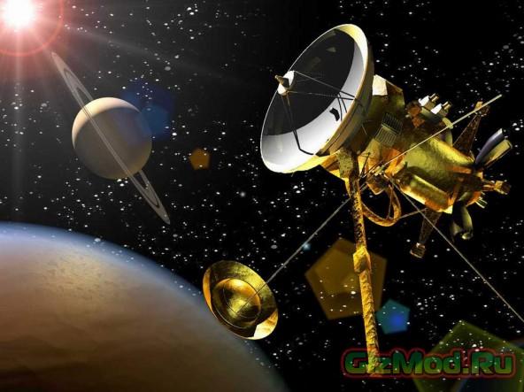 """Спутник """"Кассини"""" отмечает свое 10-летие на Сатурне"""