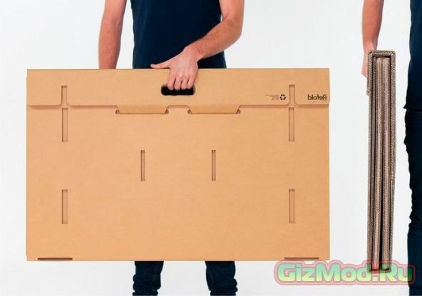Портативный картонный стол