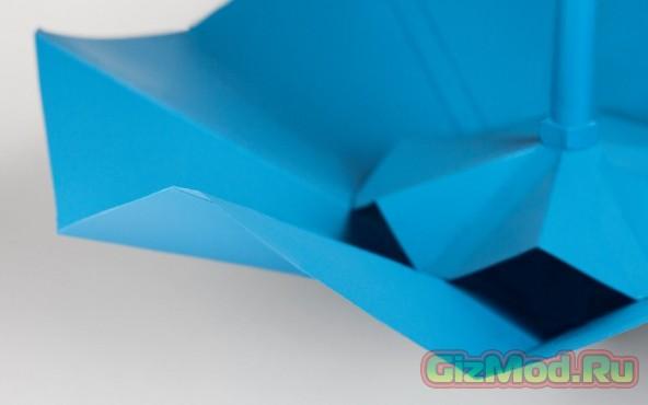 Зонт-оригами из пластика