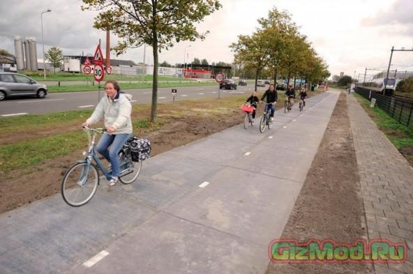 Уникальные солнечные велодорожки в Нидерландах