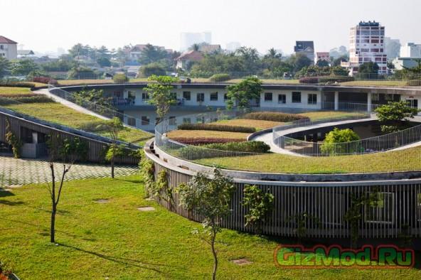 Крыше детский сад дети крыша зеленая