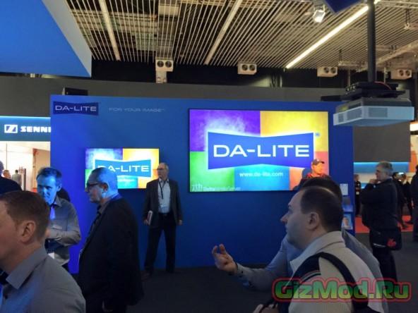 Da-Lite показала поглощающее полотно Parallax
