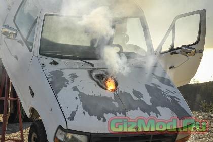 Лазерная пушка Lockheed Martin прожгла пикап