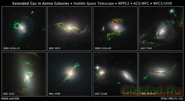 Загадочные зеленые космические пятна