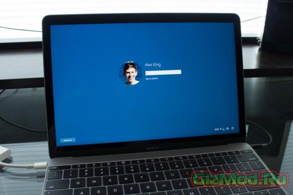 MacBook под управлением Windows 10