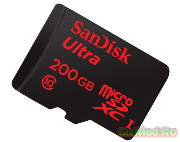 Карта памяти SanDisk microSDXC на 200 Гб
