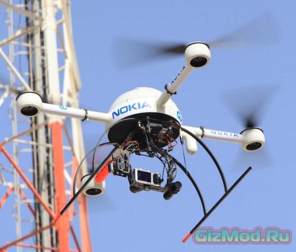 Nokia будет инспектировать сотовые вишки с помощью дронов