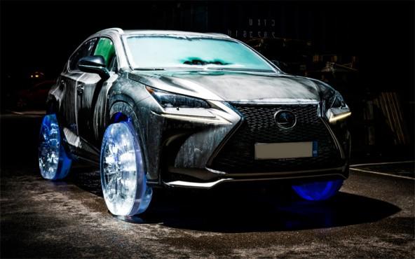 Lexus на ледяных колесах