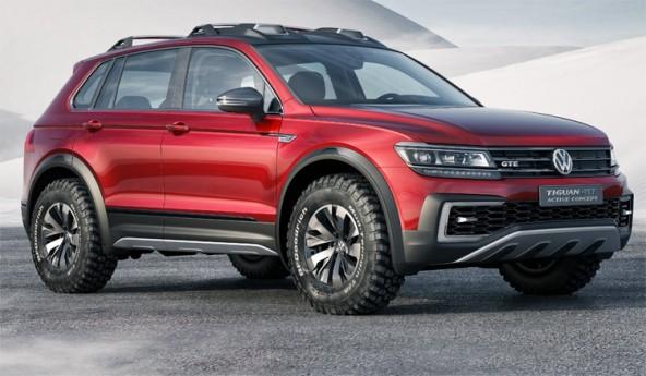 Представлен гибридный Volkswagen Tiguan GTE Active Concept