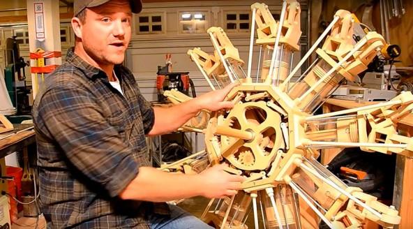 Как выглядит радиальный двигатель из дерева