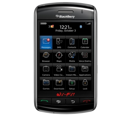 Wi-Fi появиться в смартфоне BlackBerry Storm 2