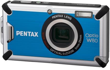 Камера Pentax Optio W80 хорошо защищена от ударов и воды