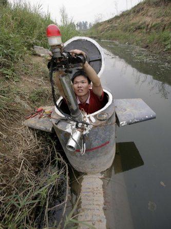 Китаец построил подводную лодку