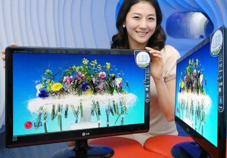 Тонкие мониторы LG EX205, EX225 и EX235 светодиодной подсветкой