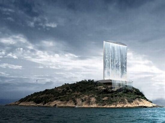 Башня, Электростанция, Водопад