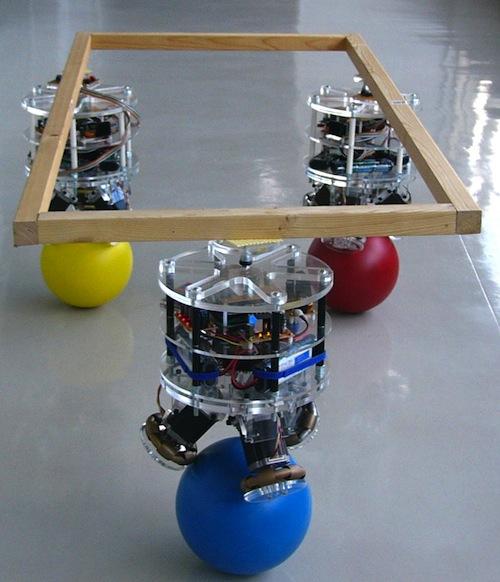 Робот, балансирующий на мяче