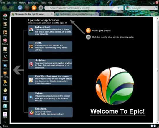 Epic браузер скачать