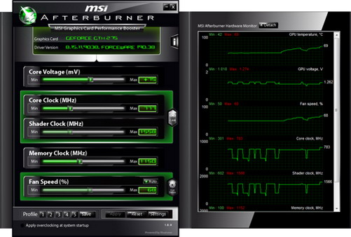 MSI Afterburner 2.1.0 Beta 6 - разгон видеокарт