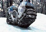 Мотоцикл Hyanide на гусеничном ходу