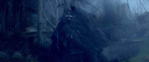 Практически всё тело Пожирателя Смерти окутывает дымчатая завеса