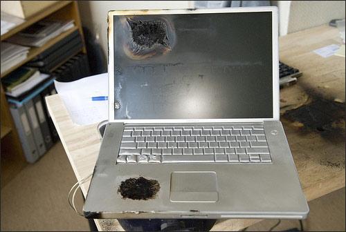 PowerBook после взрыва