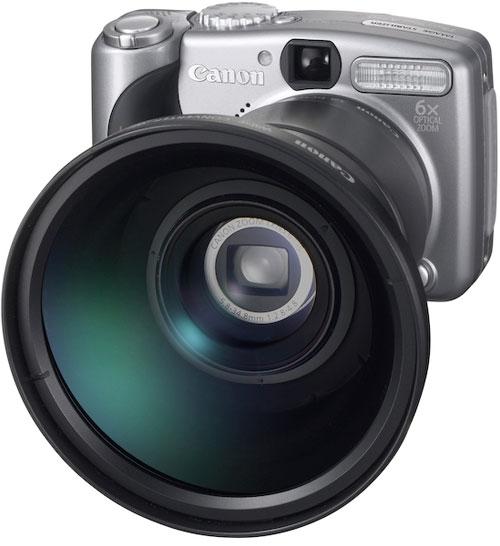 Canon PowerShot A710 + TC-DC58N