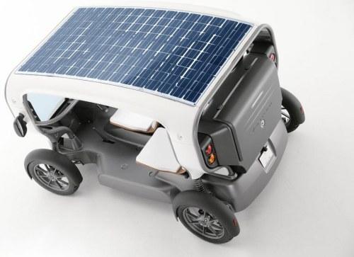 Автомобиль Venturi Eclectic работающий на солнце и ветре!
