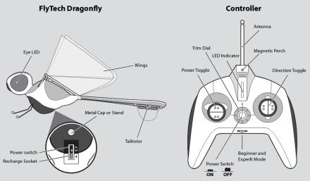 Первая в мире летающая стрекоза на радиоуправлении