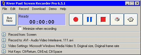 River Past Screen Recorder 7.1.4: захват экрана