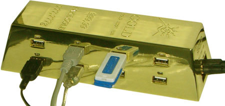 USB-концентратор из «чистого золота»