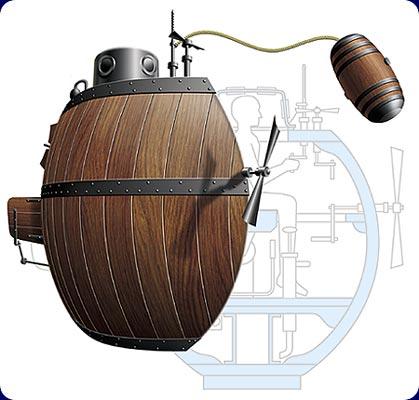 «Черепаха» - первая боевая подводная лодка!