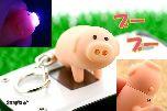 Брелок и фонарик в виде свинки