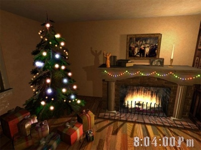 Christmas Fireplace 3D Screensaver 1.2