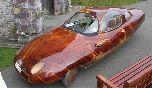 Самодельный трехколесный «деревянный» автомобиль