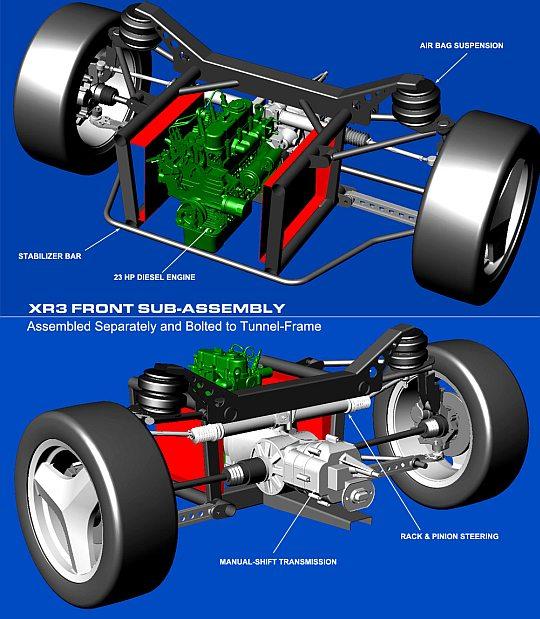 XR3 – трехколесный электрокар-гибрид