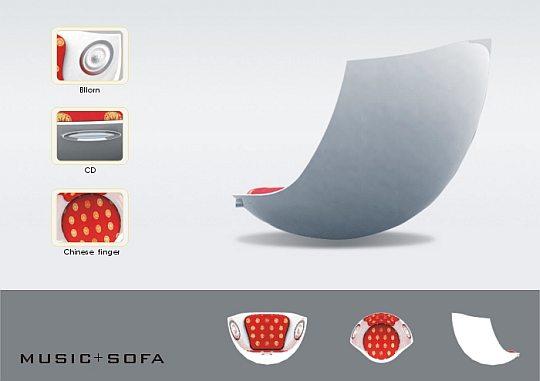 И снова мебель будущего – музыкальные кресла