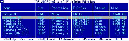OSL2000 Boot Manager v.9.08 Platinum
