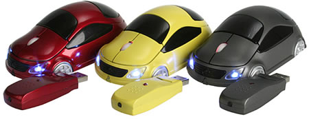 Wireless USB Car Optical Mouse: мышь для фанатов авто