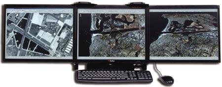 Три экрана для портативной рабочей станции