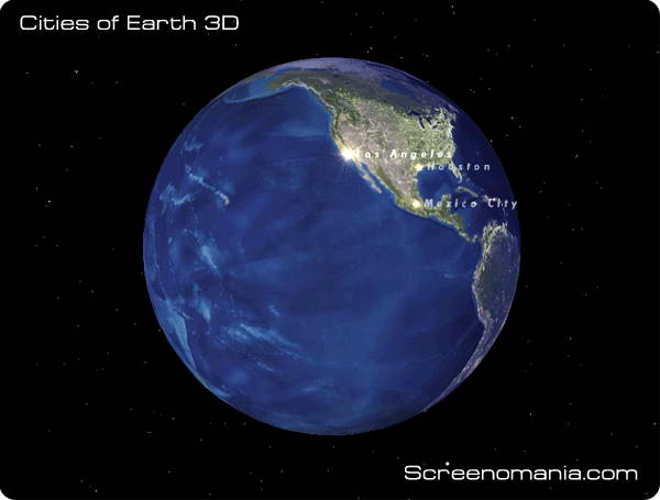Cities of Earth Free 3D Screensaver 1.4