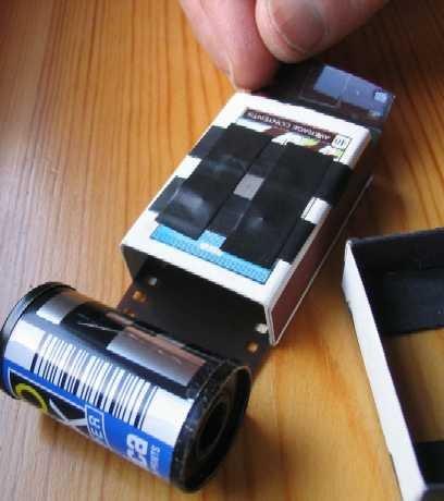 Фотоаппарат из спичечного коробка
