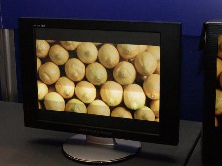 Sony показывает новые FED-дисплеи