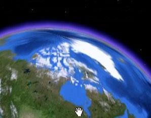 Карта России со спутника  Spacereal