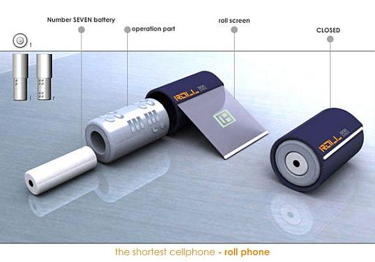 Самый короткий в мире концептуальный телефон
