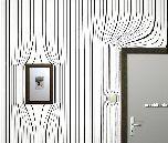 «Деформированные обои» - оригинальный интерьер
