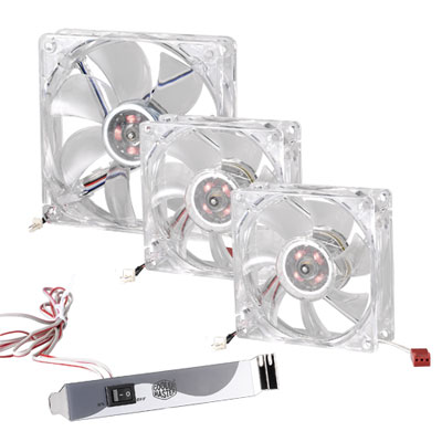 Яркие кулера LED On/Off Fan с подсветкой от Cooler Master