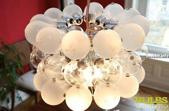 Удивительные лампы из обычных лампочек